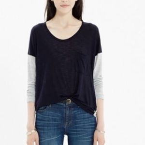 Madewell Scoopneck Colorblock Roster Tee